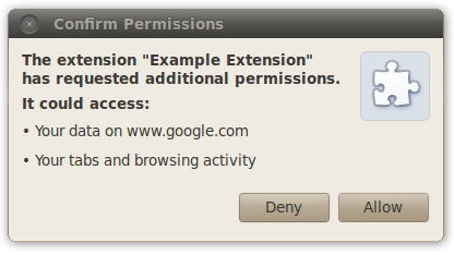 example permission confirmation prompt